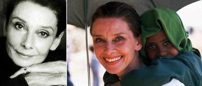 Одри Хепберн и в старости была потрясающая красавица