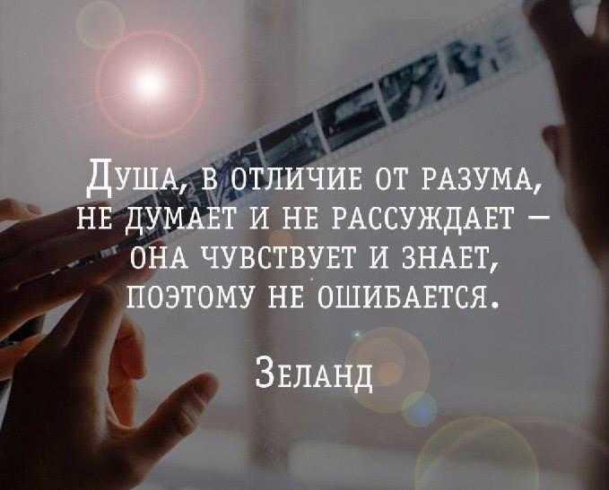 Вадим Зеланд: Душа, в отличие от Разума, не думает и не рассуждает - она чувствует и знает, поэтому не ошибается