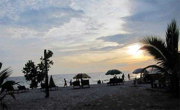 море в Сиануквиле в Камбодже