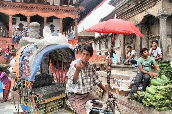 в старом храмовом комплексе в Непале