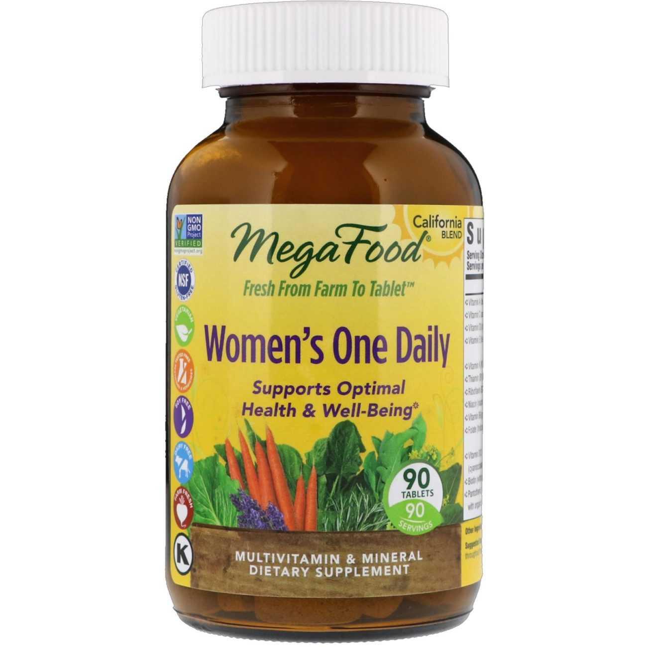 цельнопищевые комплексные витамины для женщин Мегафуд