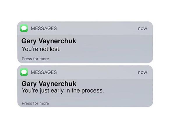 Гари Вайнерчук - Ты не потерян. Ты просто в начале процесса