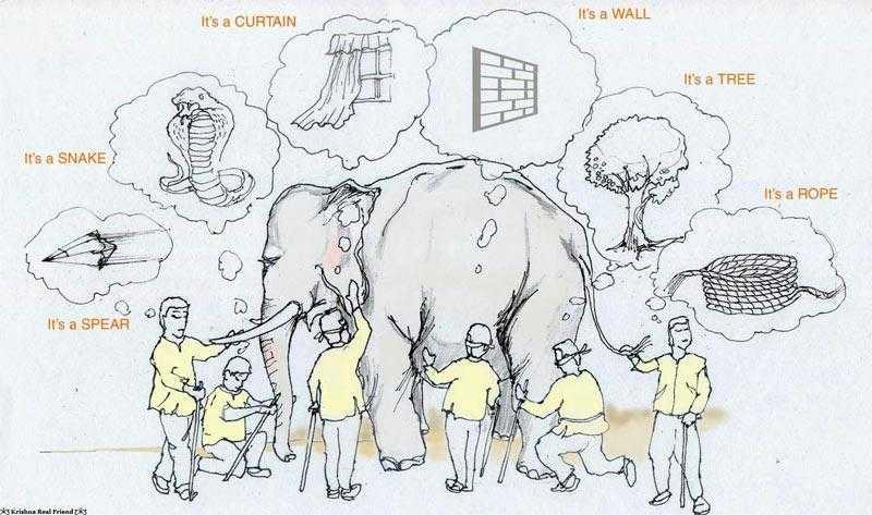 Слепые мудрецы изучают слона